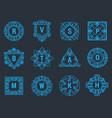 monogram letter emblem logo vintage vector image