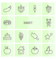 14 sweet icons vector image vector image