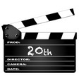 20th year clapperboard vector image vector image