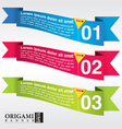 Abstract origami banner EPS 10 vector image vector image