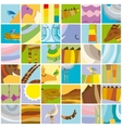 African Animals Random Color Collage vector image