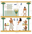 ancient egypt background egypt man walking along vector image vector image
