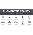augmented reality simple concept icons set vector image