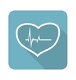Beating heart icon vector image vector image