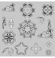 beautiful floral ornament elements vector image vector image