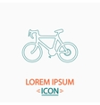 Bicycle icon computer symbol vector image vector image