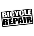 bicycles repair stamp vector image