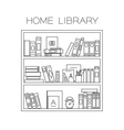 Bookshelf thin line vector image vector image