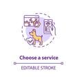 choose a service concept icon vector image