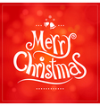 christmas greeting card decoration background vector image
