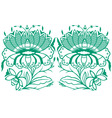 Classical oriental flower set vector | Price: 1 Credit (USD $1)