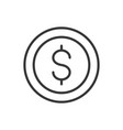 coin currency bank money icon thick line vector image