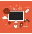 computer gadget social media icon set vector image