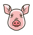 cute pig portrait symbol farm animal food vector image