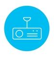 Digital projector line icon vector image