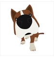 Dog with large head and nose vector image