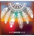 Dreamcatcher with ornament vector image vector image