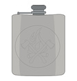 Drinking flask Color vector image