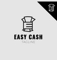 easy cash simple logo vector image vector image