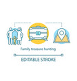 family treasure hunting concept icon time vector image vector image