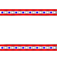 festive united states flag symbol frame vector image vector image