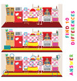 find ten differences learning game for kids vector image vector image