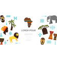 flat african ethnic colorful template vector image