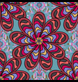 flat flowers seamless pattern design gift vector image