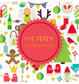 Flat Merry Christmas Background vector image vector image