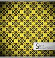 flower mesh gold vintage geometric seamless vector image vector image