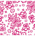 flowers in the form of stencils seamless vector image vector image
