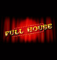 full house vector image vector image