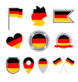germany flag icons set german flag symbol vector image vector image
