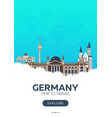 germany time to travel travel poster vector image vector image