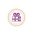 Gift box icon special present idea vector image vector image