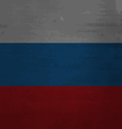 Grunge messy flag Russia vector image vector image