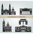 Guadalajara landmarks and monuments vector image vector image