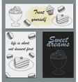 Handdrawn menu for cafe coffee house vector image vector image