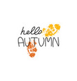 hello autumn badge isolated design label season vector image