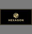 hh hexagon logo design inspiration vector image vector image