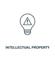 intellectual property outline icon thin line vector image