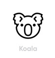 koala face icon editable line on vector image
