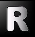 letter r sign design template element vector image vector image