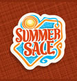 logo for summer sale vector image