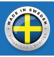 Made in Sweden button with swedish translation vector image