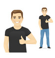 man showing thumb up vector image
