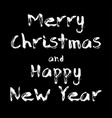 merry christmas and happy new year in calligraphy vector image
