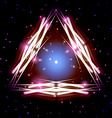Mystic shiny triangle with sparkles vector image