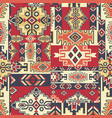 native american style fabric patchwork wallpaper vector image