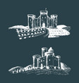 old castles hand drawn vector image vector image